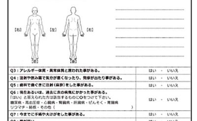 Mẫu tờ khai khám bệnh ở Nhật Bản